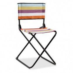 EREDU Chaise Pliante camping Maxi 522/L - Polycoton - Noir e
