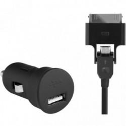 BLUEWAY Chargeur allume-cigare - 1 port USB avec câble micro