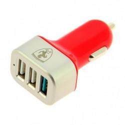 FERRARI Chargeur express charge - 12 / 24V - 4,1Ah - 3 USB