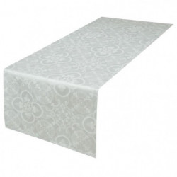 VENT DU SUD Chemin de table FARO - 47x150 cm - Blanc perle