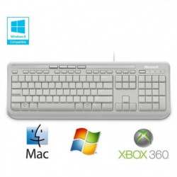 Microsoft Clavier Wired Keyboard 600 Blanc