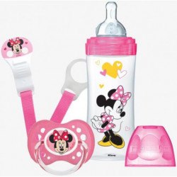 DODIE Mon Coffret Minnie (1 biberon Initiation+ 330ml rose,