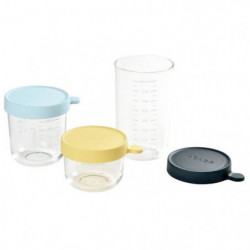BEABA Coffret de 3 portions verre 150ml, 250 ml, 400 ml