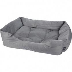 Panier rectangle - Polyester - 55 x 43 x 18 cm - Python gris