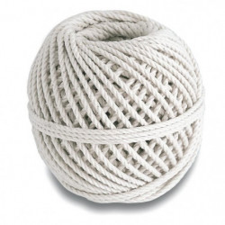 Cordeau coton câblé - Résistance a la rupture indicative 20