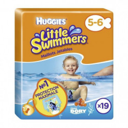 HUGGIES Maxi Pack Little Swimmers - Taille 5/6 - 19 Couches