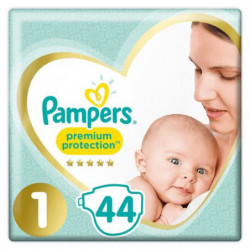 PAMPERS Premium Protection New Baby Taille 1 - 2 a 5Kg - 44