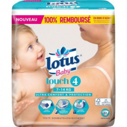 LOTUS BABY Touch Couches Taille 4 - De 7 a 14 kg - 38 couche
