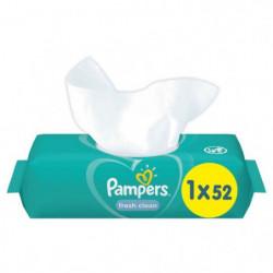 PAMPERS Lingettes bébé FRESHCLEAN - 52 lingettes
