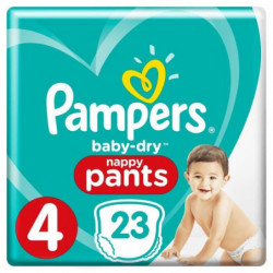 PAMPERS Baby Dry Pants Taille 4 - 8 a 15kg - 23 couches