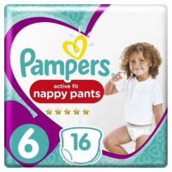 Pampers Premium Active Fit Pants Taille 6 15+ kg - 16 Couche