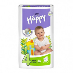 HAPPY Couches Taille 4 - De 8 a 18 kg - 46 couches