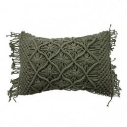 Coussin Macrame - 40 x 60 cm - Vert clair