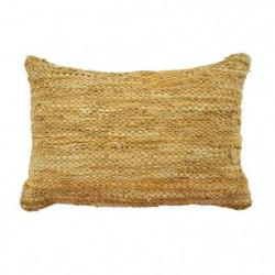 Coussin en cuir tressé Skin - 40 x 60 cm - Jaune