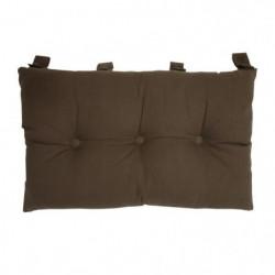 Tete de lit coussin 100% coton uni - 50x70 cm - Marron choco