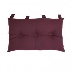 Tete de lit coussin 100% coton uni - 50x70 cm - Prune
