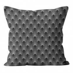 Coussin déhoussable Gold Paon - 40 x 40 cm - Gris anthracite