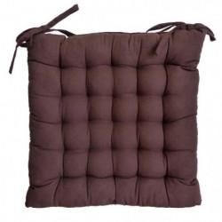 Galette de chaise 25 points 40x40x4 cm CHOCOLAT