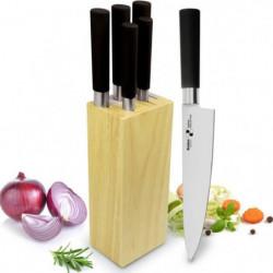 BACKEN 200605 - Bloc Couteaux de cuisine 6 pieces - Acier in