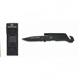 VIRGINIA Couteau Appro Extreme - Lame dentelée - 9 cm