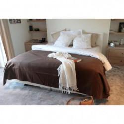 Couverture Polaire 350g/m² - 180x220cm - Chocolat