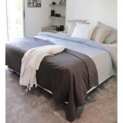 Couverture Polaire 350g/m² - 180x220cm - Gris Souris