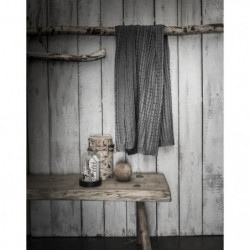 TODAY Plaid tricot Chalet - 125 x 150 cm - Gris foncé