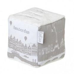 """BAMBAM Cube """" le monde """" - Des la naissance - Blanc et gris"""
