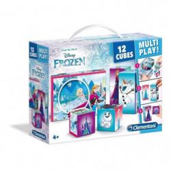 CLEMENTONI - Puzzle 12 Cubes Multiplay - La Reine des Neiges
