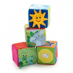 BABY EINSTEIN Cubes en tissu Explore & Discover Soft Blocks
