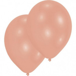"""AMSCAN Lot de 10 Ballons en latex 27,5 cm/11"""" - Orange cuivr"""