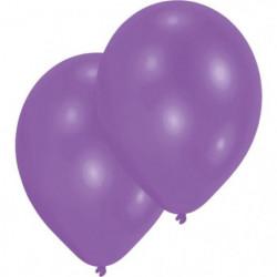 AMSCAN Lot de 10 Ballons en latex 27,5 cm/11'' - Violet méta