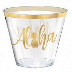 AMSCAN 30 Timbales Aloha en plastique 266 ml