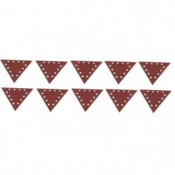 SCHEPPACH Lot de 10 triangles de ponçage grain 180 pour ponc