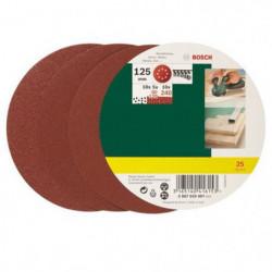 BOSCH 25 disques abrasifs excentriques 125 mm