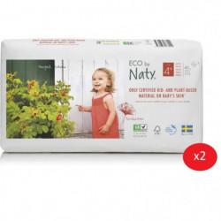 NATY - Lot de 2 paquets de couches Taille 4+ Maxi+ 9-20 kg 4