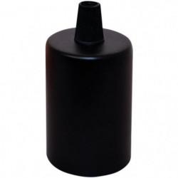 TIBELEC Douille E27 + cache-douille métal noir