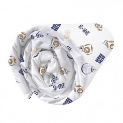 Drap housse 100% Coton STAR WARS BB8 90x190cm