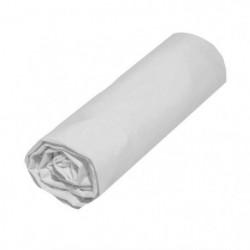 COTE DECO Drap housse 100% coton 140x190 cm - Blanc