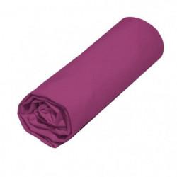COTE DECO Drap housse TPR 100% coton 80x200 cm - Violet