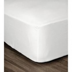 LOVELY HOME Drap Housse 100% coton 180x200x30 cm blanc