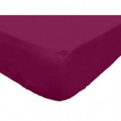 SOLEIL d'OCRE Drap housse 100% Coton 160x200 cm Cassis