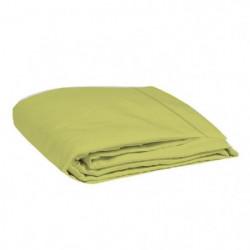 COTE DECO Drap plat 100% coton 57 fils 240x300 cm - Vert ani