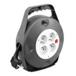 Enrouleur ménager électrique 10 m HO5VVF 4 prises 3G1,5