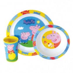 Fun House Peppa Pig ensemble repas comprenant 1 assiette, 1