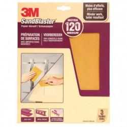 3M SANDBLASTER Papier abrasif - 230 x 280 mm - Grain : 120