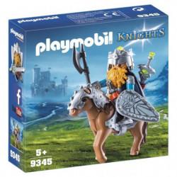 PLAYMOBIL 9345 - Knights - Combattant nain et poney - Nouvea