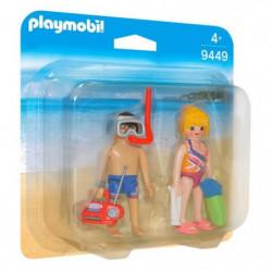 PLAYMOBIL 9449 - Family Fun - Couple de vacanciers - Nouveau