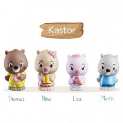 KLOROFIL Lot de 4 personnages famille Kastor