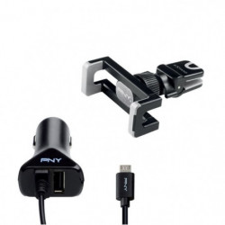 PNY The Road Kit Support de voiture pour smartphone / Charge